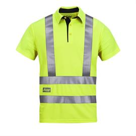 High Vis A.V.S.Polo Shirt, klass 2/3, storlek L gulgrön