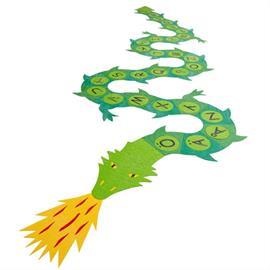 MeltMark lekplatsmarkering - Grön Drake A till Ö
