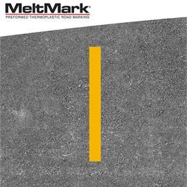 MeltMark linje gul 100 x 10 cm