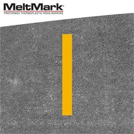 MeltMark linje gul 100 x 12 cm