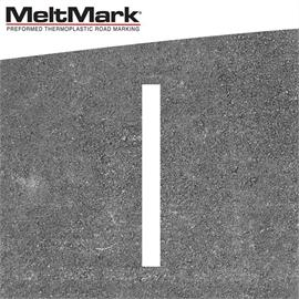 MeltMark linje vit 100 x 10 cm