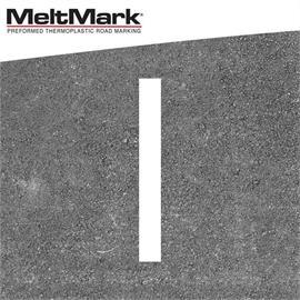 MeltMark linje vit 100 x 12 cm