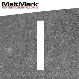 MeltMark linje vit 100 x 15 cm