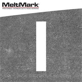 MeltMark linje vit 100 x 20 cm