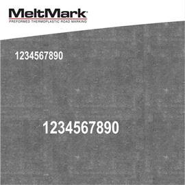 MeltMark nummer - höjd 200 mm vit