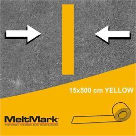 MeltMark rulle gul 500 x 15 cm