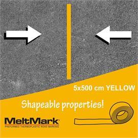 MeltMark rulle gul 500 x 5 cm